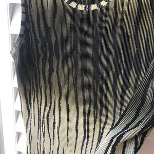 NOTATIONS Pleated Jungle Top EUC!